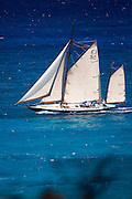 Kate sailing in the Antigua Classic Yacht Regatta, Windward Race.