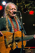 Willie Nelson performing at the Heartbreaker Banquet 2015, Austin, Texas, March 18, 2015.  The Heartbreaker Banquet was presented by Electric Lady Studios and Robot Fondue and held at Willie Nelson's Luck, Texas western town.