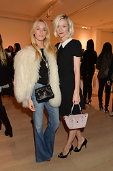 Left to right, LADY MARY FURZE and PORTIA FREEMAN at an evening of Fashion, Art & design hosted by Ralph Lauren and Phillips at the new Phillips Gallery, 50 Berkeley Square, London on 22nd October 2014.
