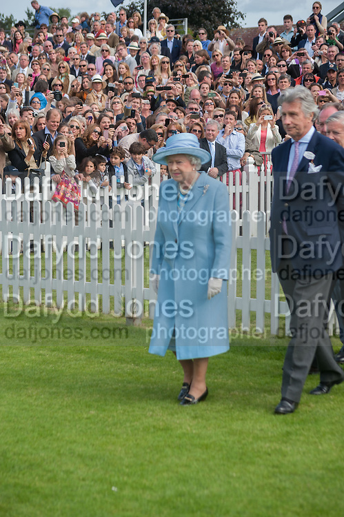 THE QUEEN; ARNAUD BAMBERGER, Cartier Queen's Cup. Guards Polo Club, Windsor Great Park. 17 June 2012