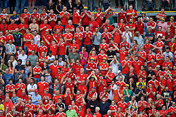 LENS, FRANCE - Thursday, June 16, 2016: Wales supporters during the UEFA Euro 2016 Championship Group B match against England at the Stade Bollaert-Delelis. (Pic by Paul Greenwood/Propaganda)