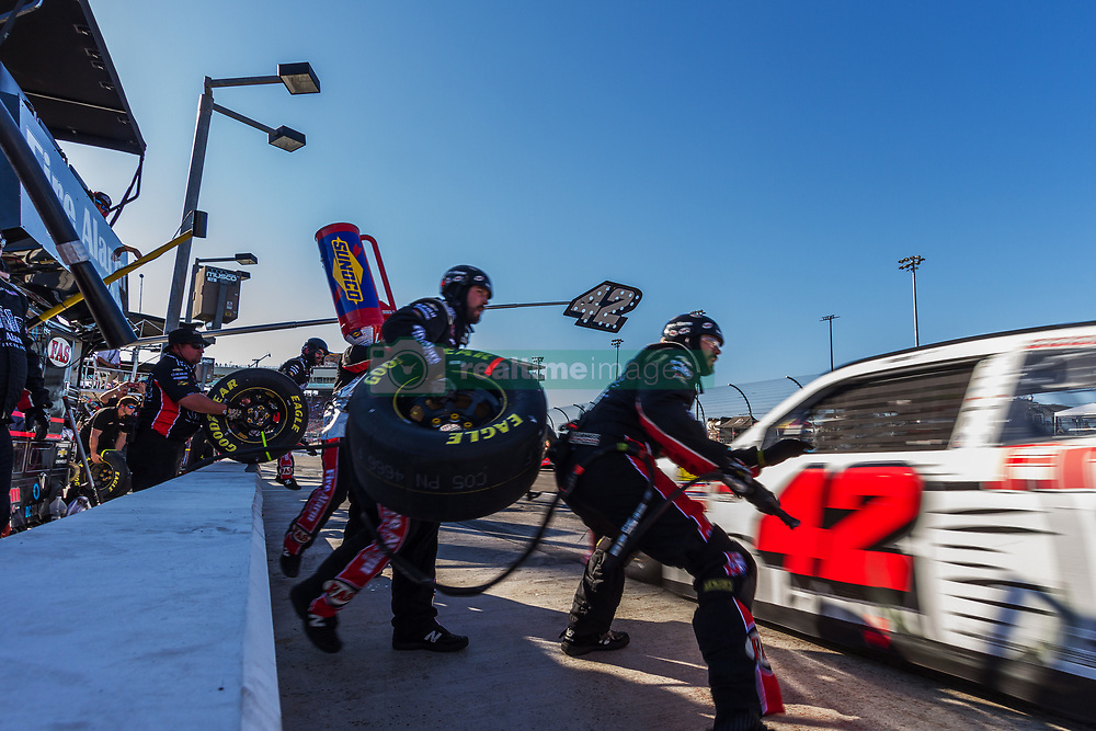 November 10, 2018 - PHOENIX, AZ - NOVEMBER 10: The pit crew for driver John H. Nemechek of the #42 Fire Alarm Services Inc., Chevrolet during the NASCAR Xfinity Whelen Trusted to Perform 200 at ISM Raceway on November 10, 2018 in Phoenix, Arizona. (Credit Image: © Doug James/ZUMA Wire)