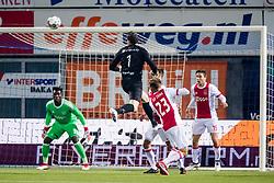 (L-R) goalkeeper Andre Onana of Ajax, goalkeeper Diederik Boer of PEC Zwolle, Siem de Jong of Ajax, Carel Eiting of Ajax during the Dutch Eredivisie match between PEC Zwolle and Ajax Amsterdam at the MAC3Park stadium on February 18, 2018 in Zwolle, The Netherlands