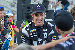 June 9, 2018 - Fort Worth, Texas, U.S - Team Penske driver Simon Pagenaud (22) of France in action before the DXC Technology 600 race at Texas Motor Speedway in Fort Worth,Texas. (Credit Image: © Dan Wozniak via ZUMA Wire)