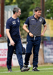 Bristol Rovers Manager Darrell Clarke at full time after the preseason friendly against Exeter City - Mandatory by-line: Robbie Stephenson/JMP - 16/07/2016 - FOOTBALL - St James Park - Exeter, England - Exeter City v Bristol Rovers - Pre-season friendly