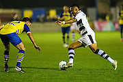 Forest Green Rovers Keanu Marsh-Brown(7) runs forward during the Vanarama National League match between Solihull Moors and Forest Green Rovers at the Automated Technology Group Stadium, Solihull, United Kingdom on 25 October 2016. Photo by Shane Healey.