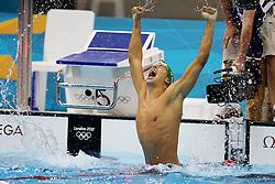 Olympic Games London 2012.Gold medal winner  200m butterfly, Chad le Clos (RSA).Photo by Pixathlon / Sportida.com