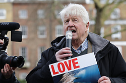 © Licensed to London News Pictures. 26/01/2019. London, UK. STANLEY JOHNSON joins an anti-whaling demonstration in London. Photo credit: Rob Pinney/LNP