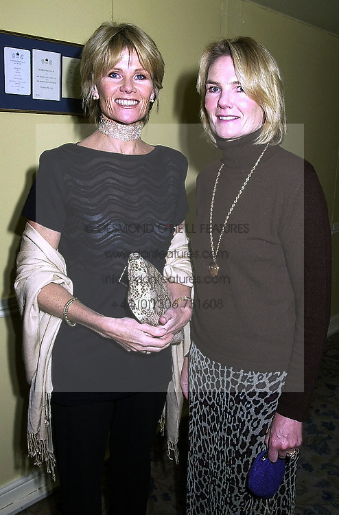 Left to right, sisters, LADY CHARLOTTE DINAN and LADY MARY GAYE SHAW, at a party in London on 18th September 2000.OHA 4