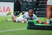 Josevata Taliga Rokocoko (Racing 92) scored a try during the French championship Top 14 Rugby Union match between Racing 92 and SU Agen on September 8, 2018 at U Arena in Nanterre, France - Photo Stephane Allaman / ProSportsImages / DPPI