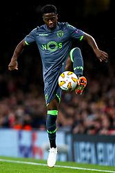 Abdoulay Diaby of Sporting Lisbon - Mandatory by-line: Robbie Stephenson/JMP - 08/11/2018 - FOOTBALL - Emirates Stadium - London, England - Arsenal v Sporting Lisbon - UEFA Europa League