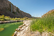 Scenic view of waterfall and the Snake River canyon near Twin Falls, Idaho.