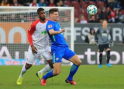 20171125, 1.BL, FC Augsburg vs VfL Wolfsburg, WWK Arena Augsburg, Fussball, Sport, im Bild:..Kevin Danso (FC Augsburg) vs Mario Gomez (VfL Wolfsburg)..*Copyright by:  Philippe Ruiz..Postbank Muenchen.IBAN: DE91 7001 0080 0622 5428 08..Oberbrunner Strasse 2.81475 MŸnchen, .Tel: 089 745 82 22, .Mobil: 0177 29 39 408..( MAIL:  philippe_ruiz@gmx.de ) ..Homepage: www.sportpressefoto-ruiz.de. (Credit Image: © Philippe Ruiz/Xinhua via ZUMA Wire)
