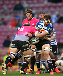 Stephan Greeff of the Pumas tackles Jan de Klerk of Western Province during the Currie Cup Premier Division match between the DHL Western Province and the Pumas held at the DHL Newlands rugby stadium in Cape Town, South Africa on the 17th September  2016<br /> <br /> Photo by: Shaun Roy / RealTime Images