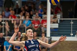 21-04-2019 NED: VC Sneek - Sliedrecht Sport, Sneek<br /> Final Round 2 of 5 Eredivisie volleyball - Sliedrecht Sport win 3-0 / Demi Korevaar #8 of Sliedrecht Sport
