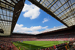 MANCHESTER, ENGLAND - Saturday, August 8, 2015: Manchester United take on Tottenham Hotspur during the Premier League match at Old Trafford. (Pic by David Rawcliffe/Propaganda)