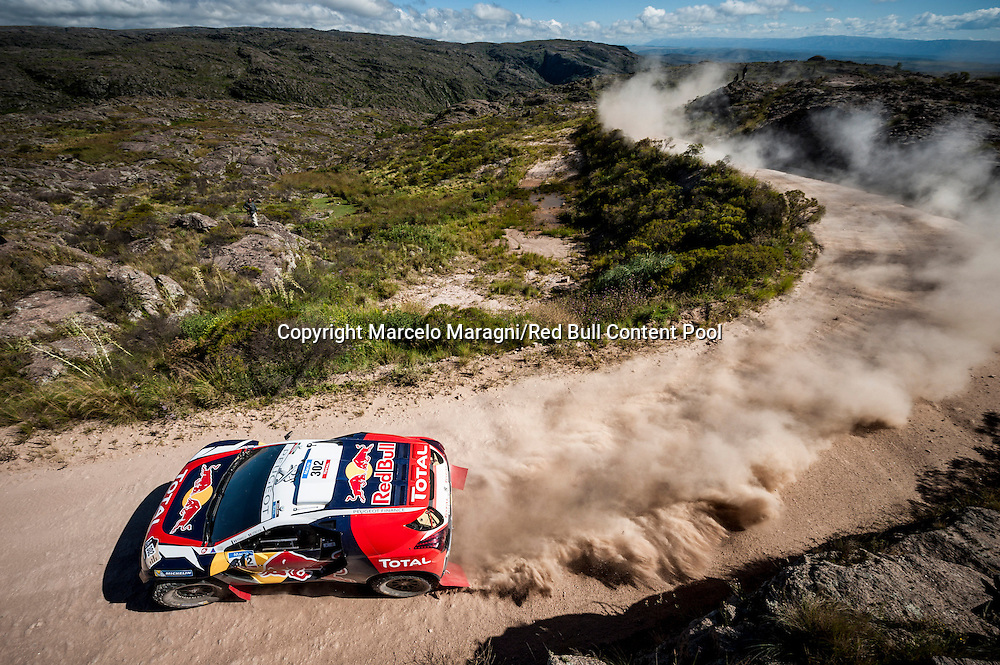 Stephane Peterhansel  races during the 2nd stage of Rally Dakar 2015 from  Villa Carlos Paz to San Juan, Argentina on January 5th, 2015 // Marcelo Maragni/Red Bull Content Pool // P-20150105-00174 // Usage for editorial use only // Please go to www.redbullcontentpool.com for further information. //