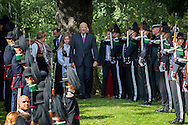 Oslo, 01-09-2016<br /> <br /> King Harald and Queen Sonja, Crown Prince Haakon and Crown Princess Mette-Marit, Princess Ingrid Alexandra and Prince Sverre Magnus attend Garden Party at the Palace Garden of The Royal Palace of Oslo on the occasion of the 25 year jubilee of King Harald as king of Norway.<br /> <br /> <br /> Royalportraits Europe/Bernard Ruebsamen