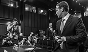 WASHINGTON, DC (April 10, 2018) -- Facebook founder and Chief Executive Officer Mark Zuckerberg prepares to testify before the U.S. Senate on hearings lead by reports that Cambridge Analytica, a British political consulting firm linked to the Trump campaign, harvested data from 87 million Facebook users.  Photo by Johnny Bivera