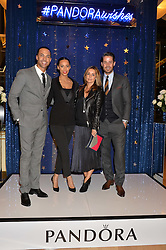 Left to right, MARVIN & ROCHELLE HUMES and JAMIE & LOUISE REDKNAPP at the #PandoraWishes Campaign Launch Event, Pandora Marble Arch flagship store, London on 12th November 2014.