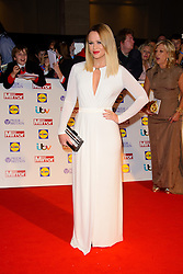 """Kimberley Walsh arriving at the Pride of Britain Awards in London,  Monday, 7th October 2013. Picture by Chris Joseph / i-Images<br /> File photo - Girls Aloud Star Kimberley Walsh Pregnant. Former Girls Aloud singer Kimberley Walsh has revealed she is expecting her first child with her boyfriend Justin Scott.<br /> <br /> The star told fans the news on Twitter, writing: """"Justin and I are so happy to let you all know we are having a baby!!! Couldn't wait to share our lovely news with you all.<br /> Photo filed Tuesday 25th Feb 2014."""