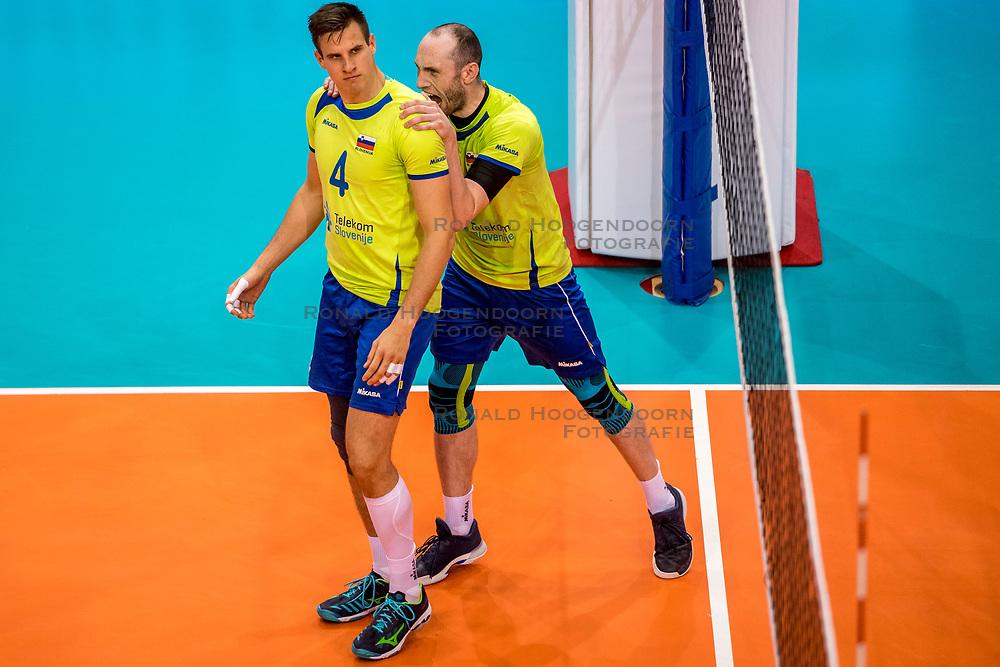 20-05-2018 NED: Netherlands - Slovenia, Doetinchem<br /> First match Golden European League / Jan Kozamernik 41 of Slovenia, Ziga Stern #14 of Slovenia