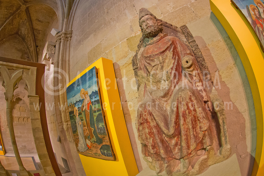 Alberto Carrera, Saint Peter-Pope, Cathedral Museum, Holy Cathedral of the Transfiguration of the Lord, Cathedral of Saint Mary of Huesca, Catedral de la Transfiguraci&oacute;n del Se&ntilde;or, Catedral de Santa Mar&iacute;a, Huesca Cathedral, Huesca, Arag&oacute;n, Spain, Europe<br /> <br /> EDITORIAL USE ONLY