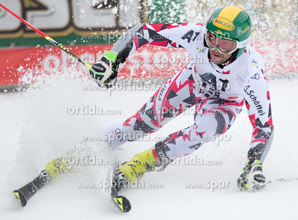 28.02.2016, Hannes Trinkl Rennstrecke, Hinterstoder, AUT, FIS Weltcup Ski Alpin, Hinterstoder, Riesenslalom, Herren, 2. Lauf, im Bild Philipp Schoerghofer (AUT) // Philipp Schoerghofer of Austria reacts after his 2nd run of men's Giant Slalom of Hinterstoder FIS Ski Alpine World Cup at the Hannes Trinkl Rennstrecke in Hinterstoder, Austria on 2016/02/28. EXPA Pictures © 2016, PhotoCredit: EXPA/ Johann Groder