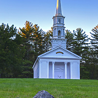 The Sudbury Mary Chapel in Central Massachusetts on a beautiful spring morning.<br />