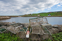 Lobster traps,  Grand Étang Harbour, Cape Breton Island Nova Scotia