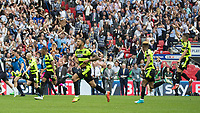 Football - 2016 / 2017 Championship Playoff Final: Reading vs. Huddersfield<br /> <br /> Huddesfield players sprint from the halfway line to join the celebrations<br />  at Wembley Stadium.<br /> <br /> COLORSPORT/DANIEL BEARHAM