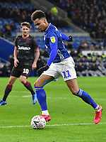 Football - 2019 / 2020 Emirates FA Cup - Fourth Round, Replay: Cardiff City vs. Reading<br /> <br /> Josh Murphy of Cardiff on the attack at the Cardiff City Stadium.<br /> <br /> COLORSPORT/WINSTON BYNORTH