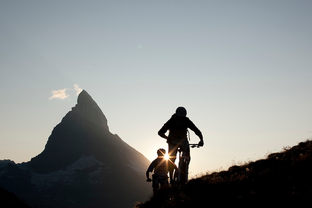 Rider: René Wildhaber and Ross Schnell.Location: Zermatt (Switzerland)