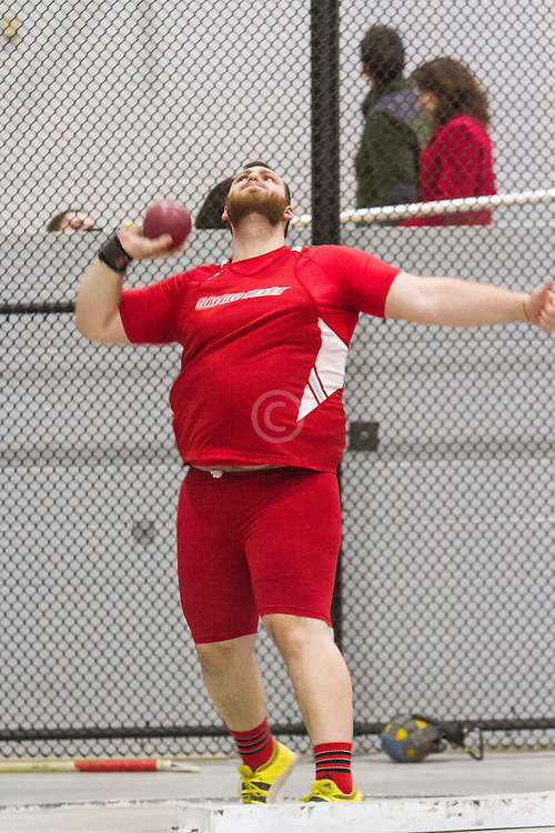 Boston University Multi-team indoor track & field, men shot put, Sacred Heart