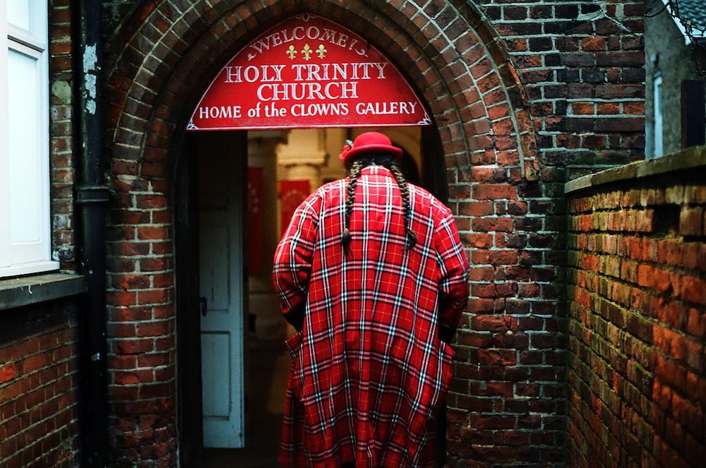 Clowns at the annual joseph Grimaldi Church sevice