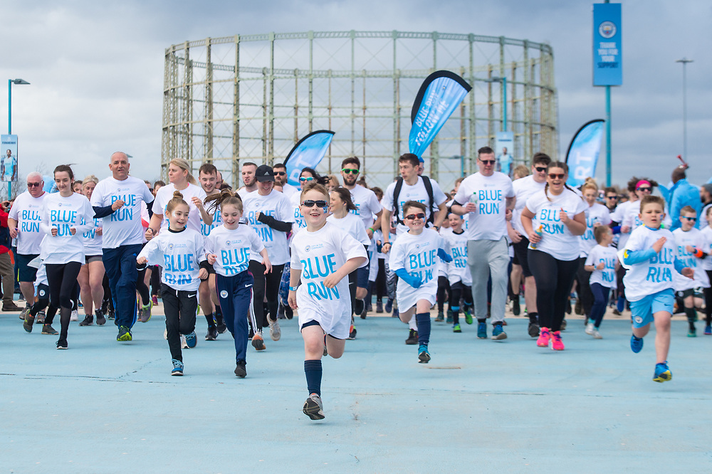 An image from the City in the Community 2019 Blue Run at the Etihad Campus, Manchester on Sunday 24th March, 2019.