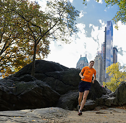 02-11-2013 ALGEMEEN: BVDGF NY MARATHON: NEW YORK <br /> Parcours verkenning en laatste training in het Central Park / Bas<br /> ©2013-FotoHoogendoorn.nl