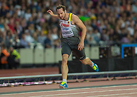 Athletics - 2017 IAAF London World Athletics Championships - Day Eight, Evening Session<br /> <br /> Mens Decathlon - 400m<br /> <br /> Kai Kazmirek (Germany)  comes home ahead of the field at the London Stadium<br /> <br /> COLORSPORT/DANIEL BEARHAM
