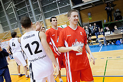 Players after Slovenian basketball All Stars Grosuplje 2013 event, on December 29, 2013 in Arena Brinje, Grosuplje, Slovenia. (Photo By Urban Urbanc / Sportida.com)