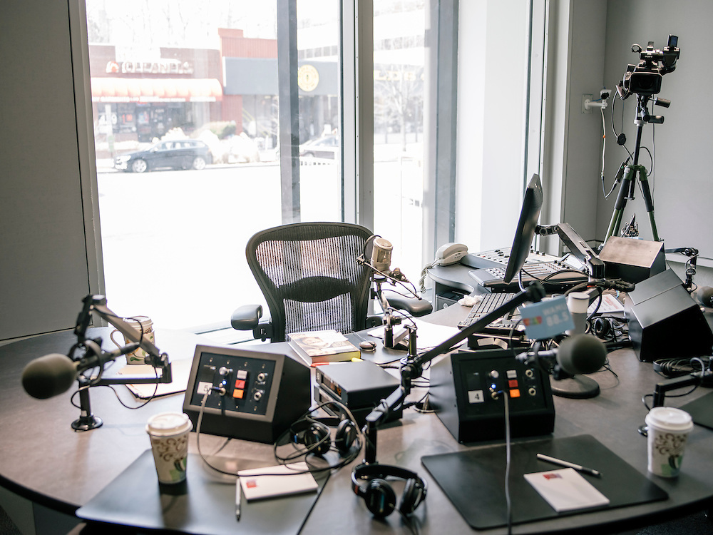 The studio where the Diane Rehm show is broadcast in Washington, D.C.