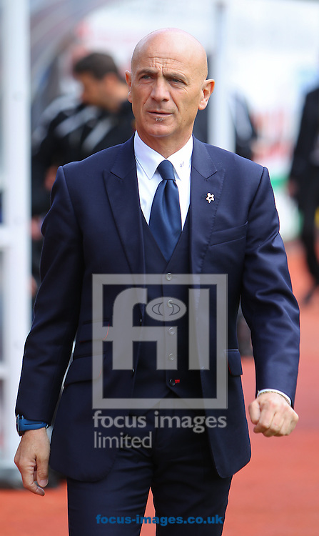 Beppe Sannino, manager of Watford before the Sky Bet Championship match at Vicarage Road, Watford<br /> Picture by John Rainford/Focus Images Ltd +44 7506 538356<br /> 19/04/2014