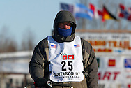 3/4/2007:  Willow, Alaska -  Rookie Richard Hum of Talkeetna, AK in the 35th Iditarod Sled Dog Race