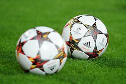 27.08.2014, BayArena, Leverkusen, GER, UEFA CL, Bayer 04 Leverkusen vs FC Kopenhagen, Play Off, R&uuml;ckspiel, im Bild Offizielle Championsleague Adidas Fussbaelle &quot; Finale &quot; // during the UEFA Championsleague 2nd Leg, Play Off Match between Bayer 04 Leverkusen and FC Kopenhagen at the BayArena in Leverkusen, Germany on 2014/08/27. EXPA Pictures &copy; 2014, PhotoCredit: EXPA/ Eibner-Pressefoto/ Thienel<br /> <br /> *****ATTENTION - OUT of GER*****