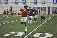 Ole Miss' C.J. Hampton (3) at football practice at the Manning Center, in Oxford, Miss. on Monday, August 18, 2014.