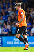 Southend United defender Ryan Leonard (18) after scoring a goal (0-1) during the EFL Sky Bet League 1 match between Gillingham and Southend United at the MEMS Priestfield Stadium, Gillingham, England on 26 August 2017. Photo by Martin Cole.