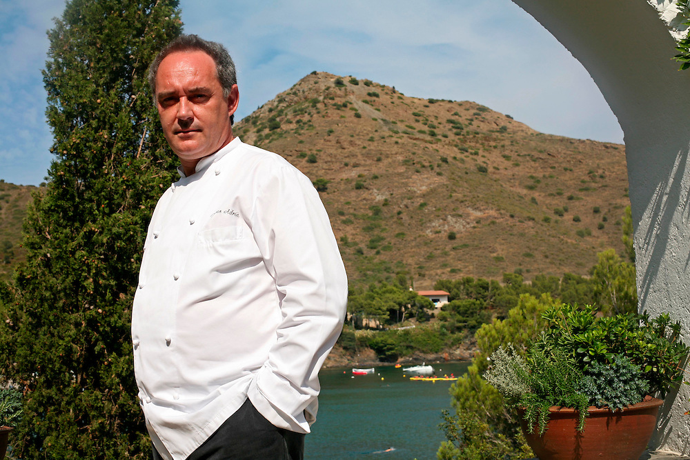 The best Catalan cooks of the guide Michelin. Ferran Adria, the best chef of the world that directs the kitchen of prestigious restaurant El Bulli in Roses (Catalonia. Spain). The image was taken in the restaurant located in Cala Joncols, Roses,