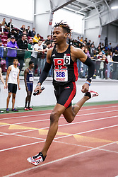 ECAC/IC4A Track and Field Indoor Championships<br /> Rutgers, 4x400 relay, Taj Burgess,