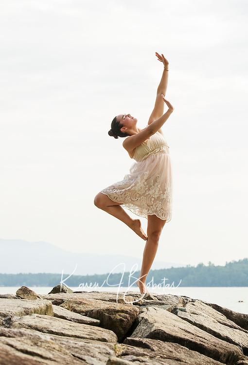Dance shoot with  Ella M.  ©2015 Karen Bobotas Photographer