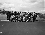 British Merchants Visit Bord Na Mona..07.06.1972..06.07.1972..7th June 1972..A group of forty British Merchants were invited by Bord na Mona to tour their works at Coolnamona,Portlaoise,Co Laois..A group photograph of the British Merchants taken on their visit to Bord na Mona at Coolnamona.