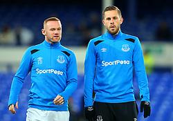 Wayne Rooney of Everton and Gylfi Sigurdsson of Everton - Mandatory by-line: Robbie Stephenson/JMP - 31/01/2018 - FOOTBALL - Goodison Park - Liverpool, England - Everton v Leicester City - Premier League